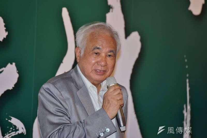 前民進黨主席姚嘉文表態挺蔡英文。(資料照片,盧逸峰攝)