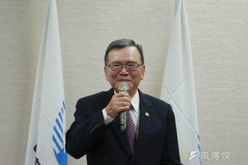 20180511-中華電信召開『499方案』說明記者會,董事長鄭優發言。(陳韡誌攝)