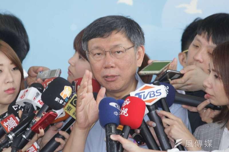 台北市長柯文哲說,他最討厭別人拿意識形態檢視他,就像他有墨綠的意識形態,但絕不會強加在別人身上。(資料照,方炳超攝)