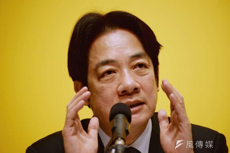 行政院長賴清德在台南市長全內就創下高舉債紀錄,如今又準備擴大發放育兒津貼。(甘岱民攝)