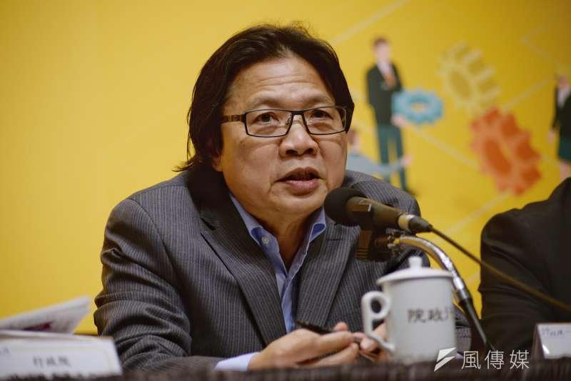 20180515-行政院「 新經濟移民法規劃重點記者會」,內政部長葉俊榮。(甘岱民攝)