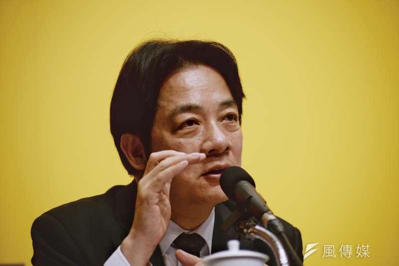 行政院長賴清德昨(14)日召開低薪對策記者會,卻遭台灣高等教育產業工會指出,無疑是民進黨在選舉前欺騙勞工的伎倆。(資料照,甘岱民攝)