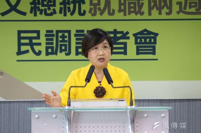 民進黨副秘書長徐佳青表示,高雄市長候選人辯論,陳其邁表現較佳。(資料照片,陳韡誌攝)