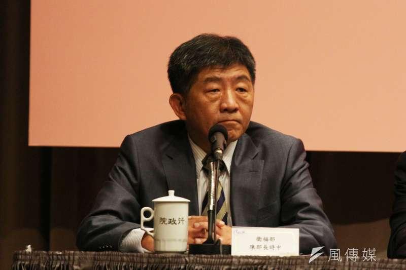 衛福部長陳時中坦言托育新政策只是減輕負擔,無法提升生育率。(資料照,陳韡誌攝)