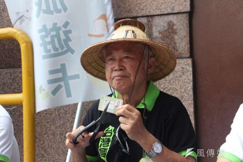 「台灣國」創辦人王獻極(見圖)強調自己移民紐西蘭是因為兒子氣喘,而且做社會運動需要資金,本來就須要募款。(資料照,陳韡誌攝)