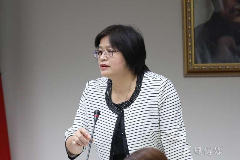 20180517-立法院社會福利及衛生環境委員會審查預算,立法委員吳玉琴發言。(陳韡誌攝)