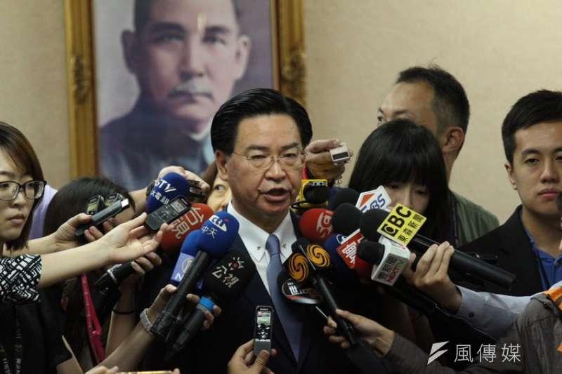 立法院外交及國防委員會邀請外交部長吳釗燮報告業務概況並備質詢。(陳韡誌攝)