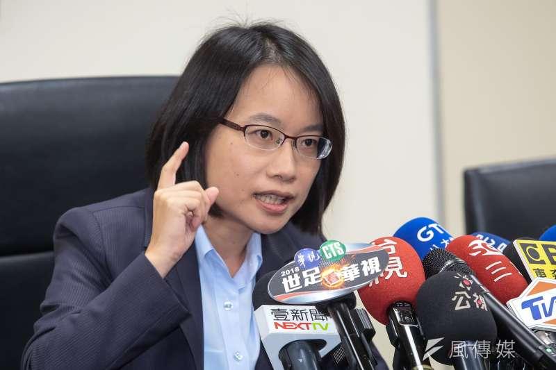 台北農產公司總經理吳音寧爭議不斷,蔡英文總統下達全黨救援令,要求民進黨協助她「政治攻防」。(顏麟宇攝)