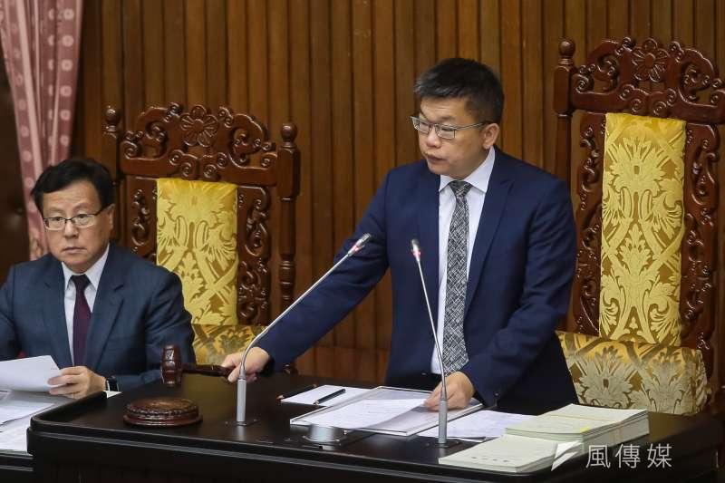 20180522-立法院副院長蔡其昌22日主持院會。(顏麟宇攝)