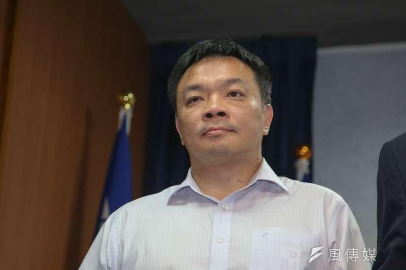 20180522-國民黨公布台南市長初選民調記者會,由高思博出線代表角逐。(陳明仁攝)