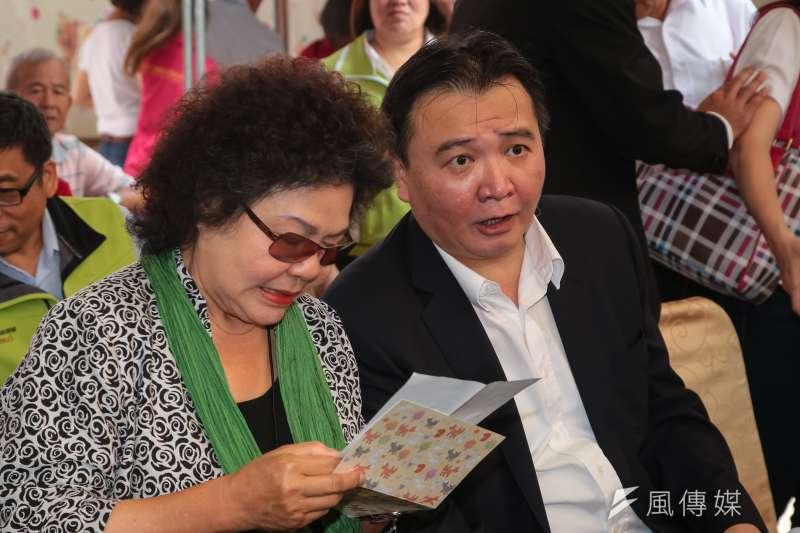 20180522-高雄市代理市長許立明22日出席「107年高雄鳳荔季,想旺就要荔刻購」記者會。(顏麟宇攝)
