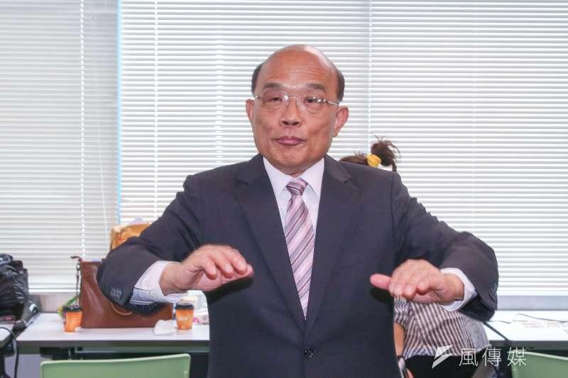 20180523-民進黨新北市長參選人蘇貞昌。(陳明仁攝)