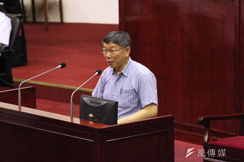 台北市長柯文哲25日於台北市議會進行總質詢,針對台布斷交後是否還堅持兩岸一家親,柯表示,這說法僅限於城市交流。(資料照,陳韡誌攝)