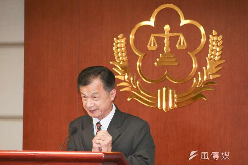 行政院今(12)日宣布內閣改組名單,法務部長邱太三卸任後,改為出任國家安全會議諮詢委員。(資料照,陳明仁攝)