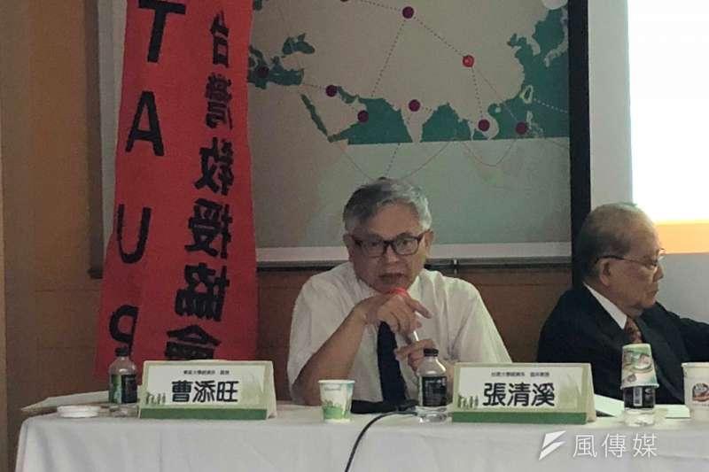 台大經濟系退休教授張清溪認為,一帶一路的目的,最終是取代美國的世界領導地位,成為世界霸權。(黃宇綸攝)