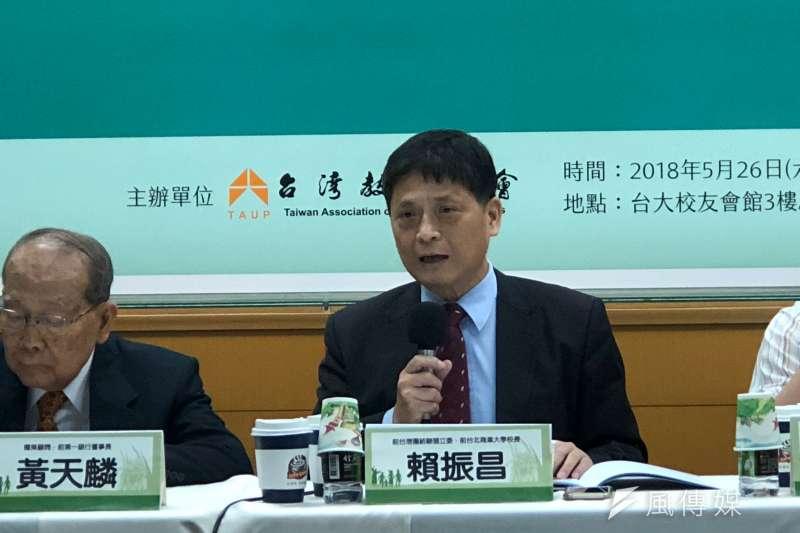台灣團結聯盟前立法委員賴振昌表示,中國早期維持高經濟成長率,近期有緩和的趨向,因此提出一帶一路,期望能延續發展中國經濟的基本條件。(黃宇綸攝)
