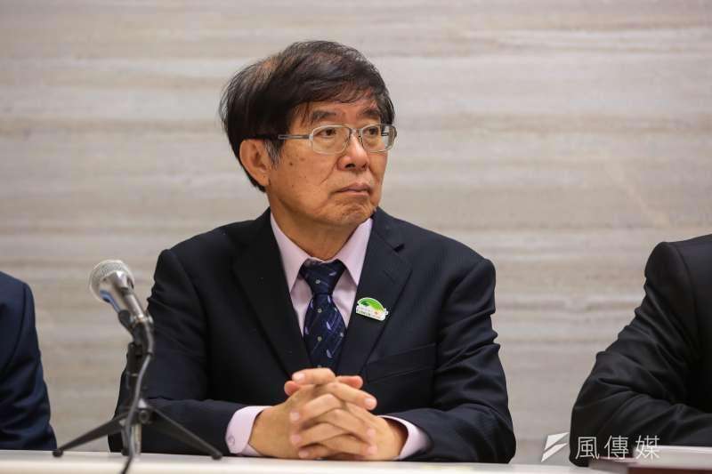 20180526-衛福部健保署長李伯璋26日出席世衛行動團返國記者會。(顏麟宇攝)