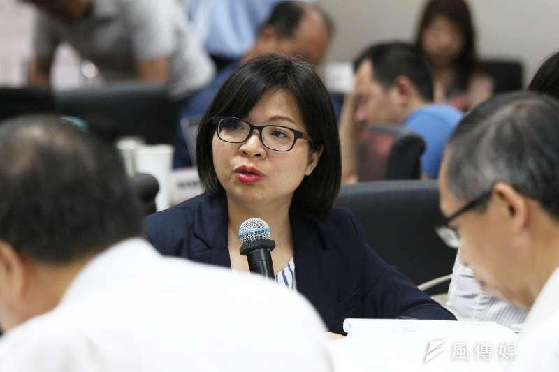 20180528-立法院經濟委員會審查法案,立法委員林淑芬發言。(陳韡誌攝)