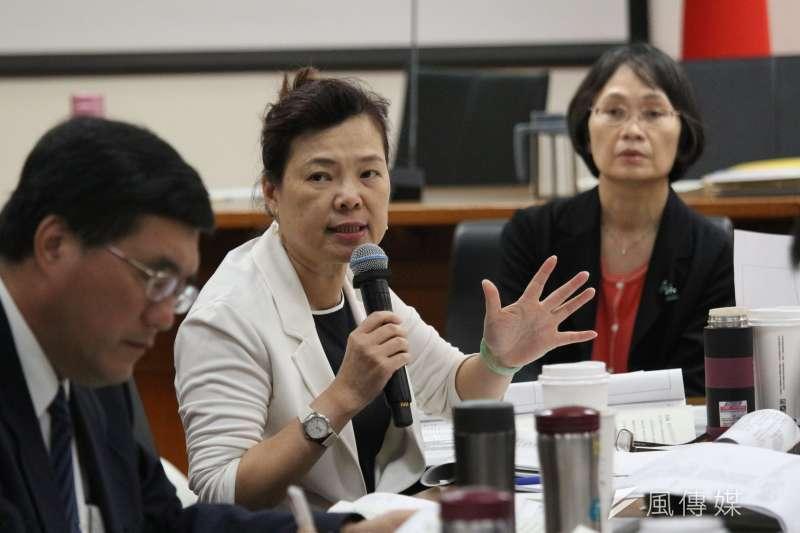 20180528-立法院經濟委員會審查法案,經濟部次長王美花發言。(陳韡誌攝)