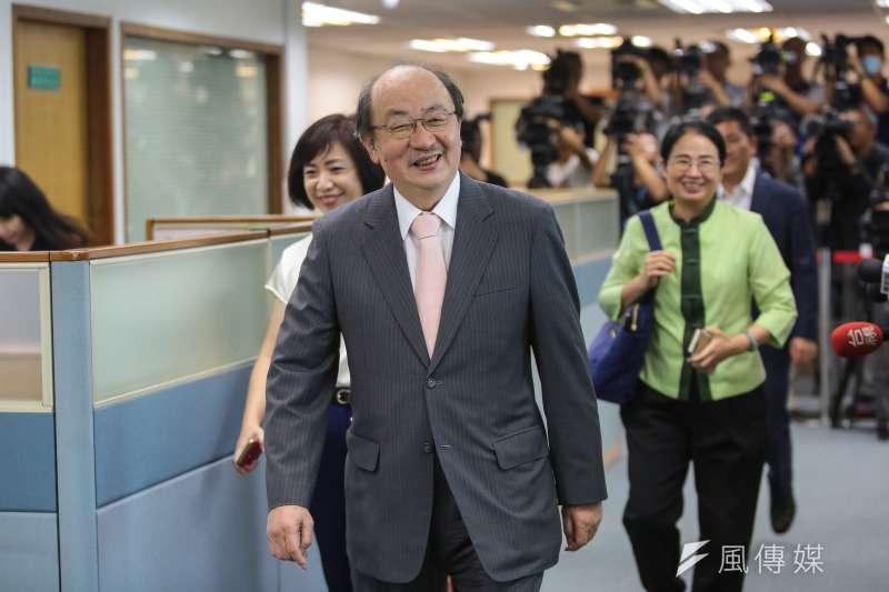 民進黨總召柯建銘談立法院開議。(資料照片,顏麟宇攝)