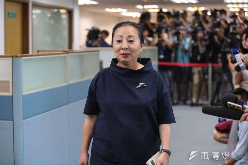 20180530-嘉義縣長張花冠30日出席民進黨中執會。(顏麟宇攝)