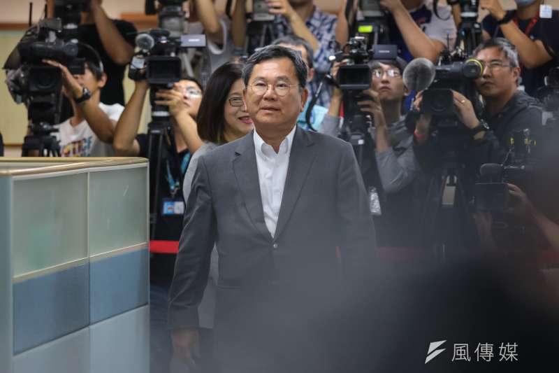 民進黨選對會召集人陳明文表示,綠委姚文智有理念又有選戰經驗,是非常優秀的人才。(資料照,顏麟宇攝)