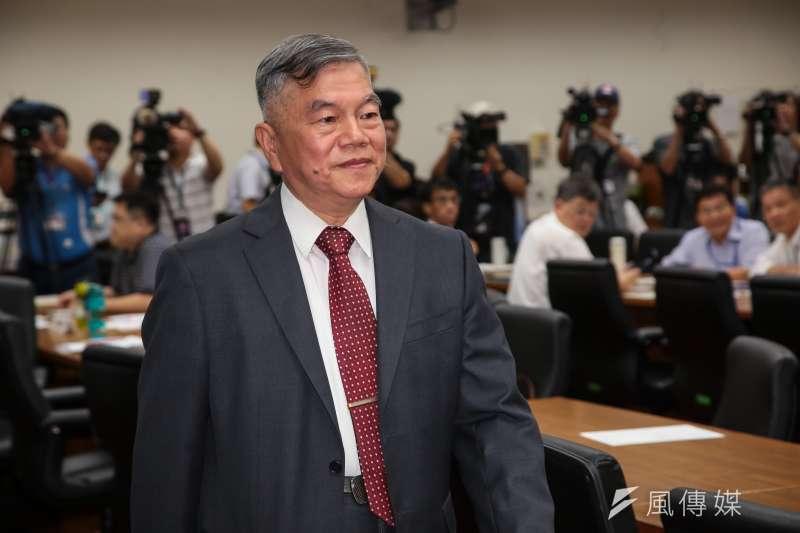 20180531-經濟部長沈榮津31日出席經濟委員會。(顏麟宇攝)