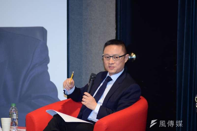 20180601-長風基金會講座,復旦大學教授李世默。(甘岱民攝)