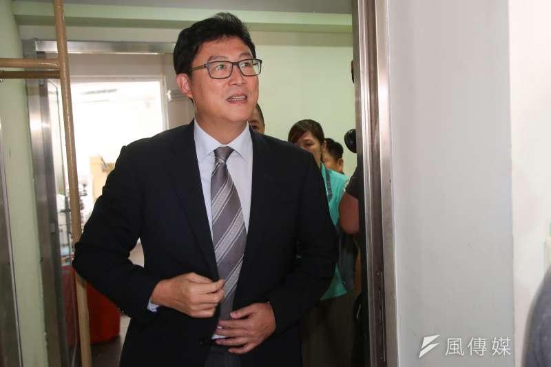 20180601-民進黨台北市長提名人姚文智1日拜會民進黨台北市黨部。(顏麟宇攝)