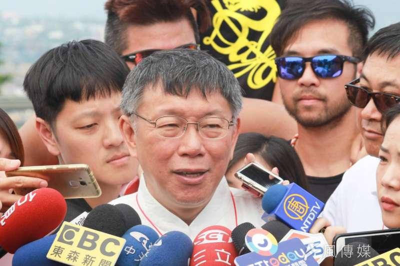 台北市長柯文哲2日表示,「坦白講台灣總統不好當」。(方炳超攝)