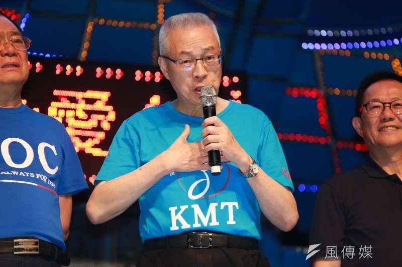 國民黨主席吳敦義黨重砲回擊,批評林為洲「過去紀錄」不好,更強調,黨絕對不可能提名一個所有人都不支持的候選人。(簡必丞攝)