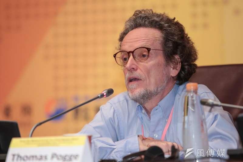 20180602-耶魯大學哲學與國際事務系教授湯瑪斯‧伯格(Thomas Pogge)2日出席「從西方中心到後西方世界:21世紀新興全球秩序之探索」國際學術研討會。(顏麟宇攝)