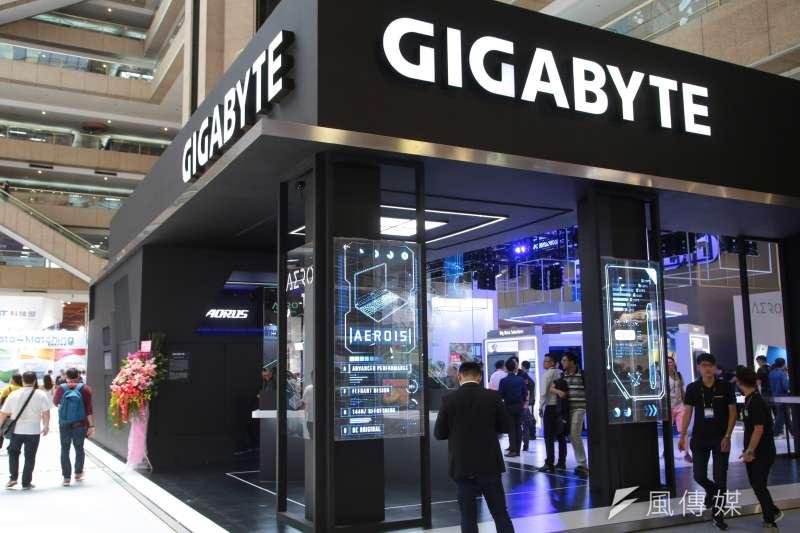 20180605-2018台北國際電腦展,GIGABYTE技嘉科技攤位。(顏麟宇攝)