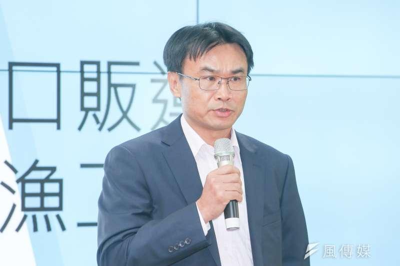 農委會副主委陳吉仲針對先前請辭傳聞澄清,「如果有請辭,就不會在這裡了。」(資料照,陳明仁攝)