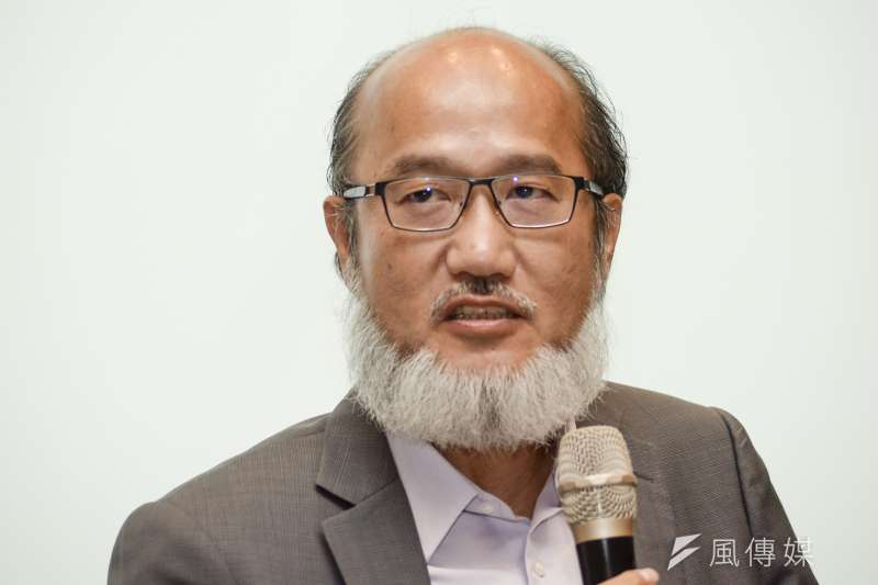 20180611-政大校長遴選公聽會,成大副校長林從一。(甘岱民攝)