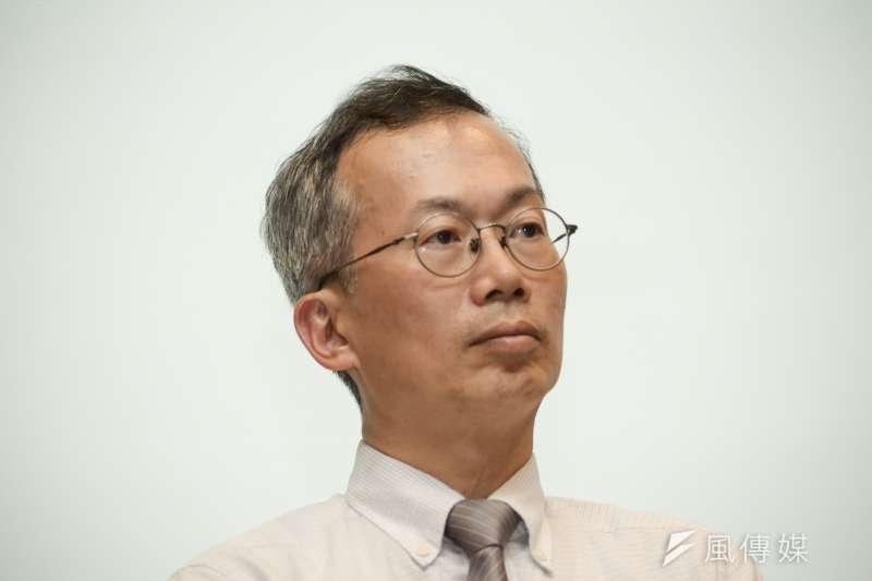 20180611-政大校長遴選公聽會,政大資科系教授李蔡彥。(甘岱民攝)