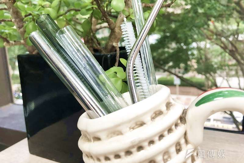 原來環保吸管有這麼多種!(圖/蔡昀暻攝影)