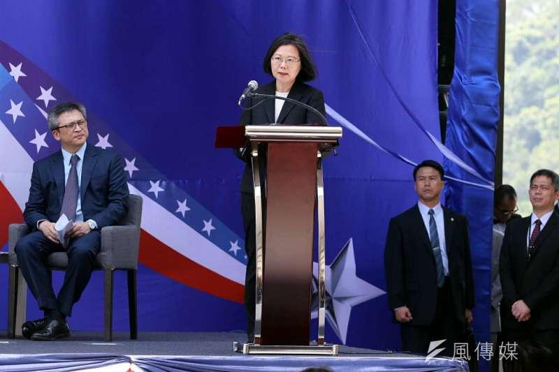 20180612-美國在台協會AIT內湖新館12日落成。總統蔡英文致詞。(蘇仲泓攝)