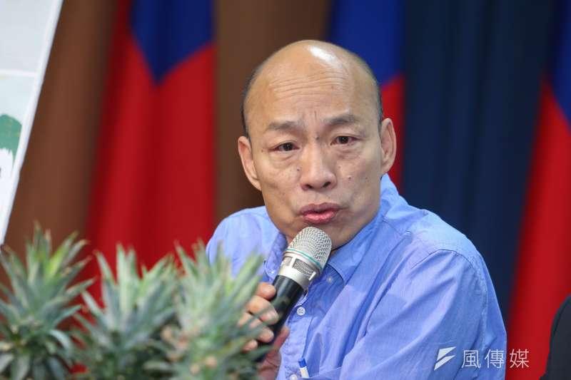 原北農總經理韓國瑜被民進黨一路追打成了國民黨高雄市長參選入。(陳明仁攝)