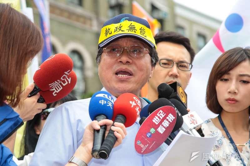 國民黨總統候選人韓國於敗選,全國公務人員協會理事長李來希(見圖)20日發文感嘆,「也許是我做的不夠好,努力到最後仍然功敗垂成,大家就認命吧!」(資料照,顏麟宇攝)
