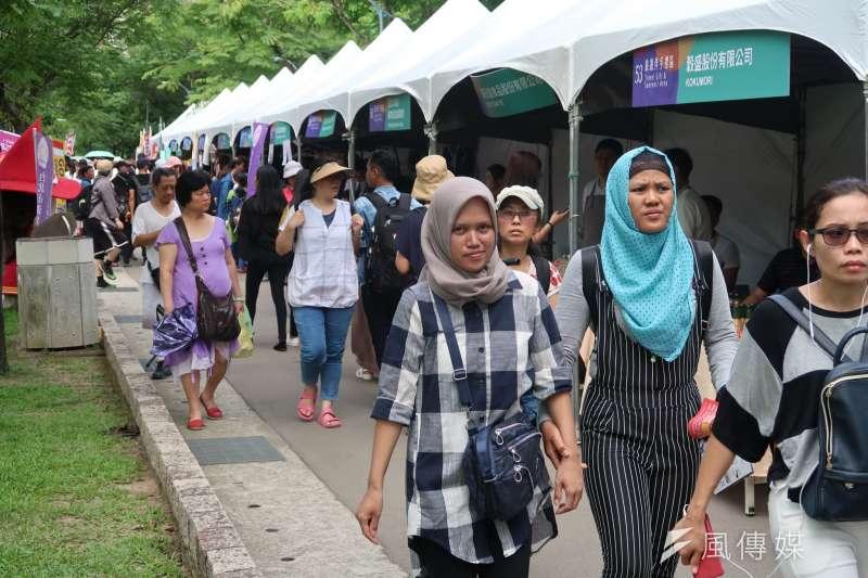 台北市率先與民間醫院合作,打造穆斯林的友善醫療環境。圖為去年穆斯林在台北慶祝開齋節。(資料照,朱冠諭攝)