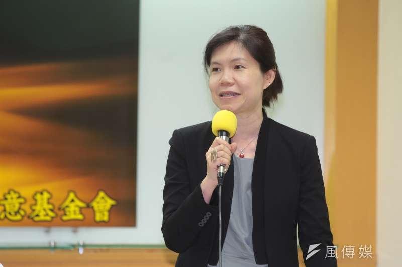 20180617-世新大學性別研究所教授陳宜倩17日出席「2018台灣人最喜愛的國家」全國性民調發表會。(顏麟宇攝)