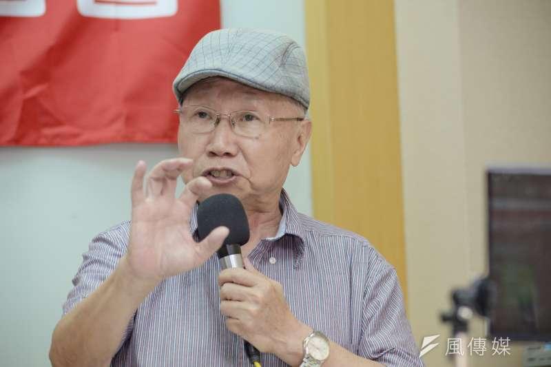 20180619-社會福利國家連線成立記者會,前立法委員陳昭南。(甘岱民攝)