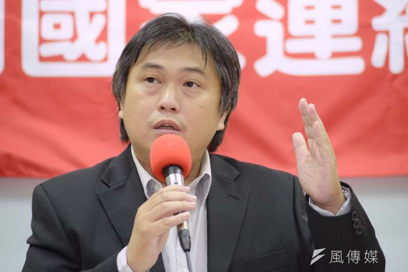 20180619-社會福利國家連線成立記者會,基進黨代表黃建龍。(甘岱民攝)