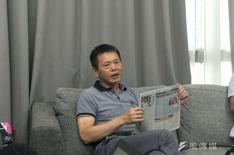 年底新竹縣長選舉,國民黨提名現任副縣長楊文科參選。立委林為洲19日表示,民進黨秘書長洪耀福也曾來電,慫恿他脫黨參選。(周怡孜攝)