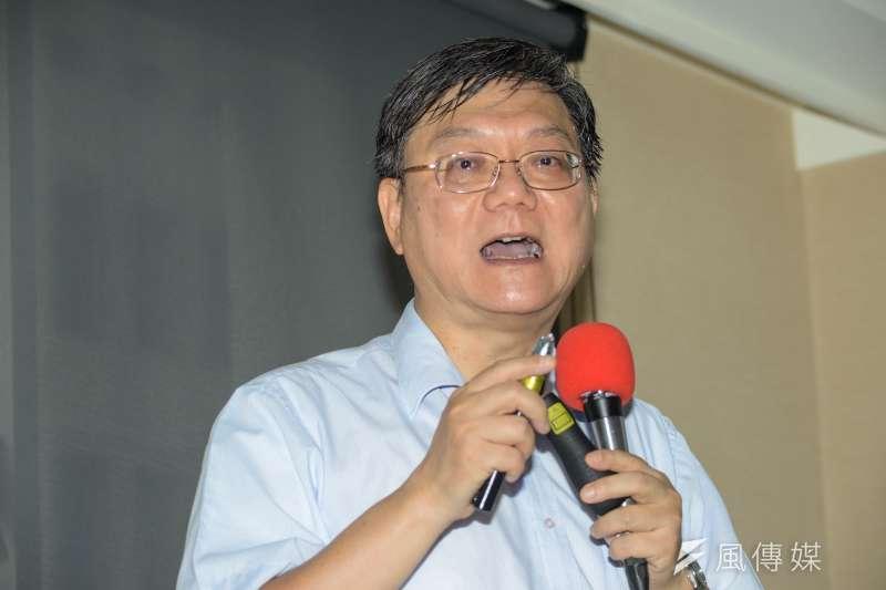 20180619-長風文教基金會「台灣能源政策」記者會 ,前經濟部長杜紫軍。(甘岱民攝)