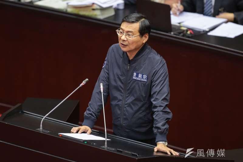 20180620-國民黨立委曾銘宗20日於臨時會審查軍人年改時發言。(顏麟宇攝)