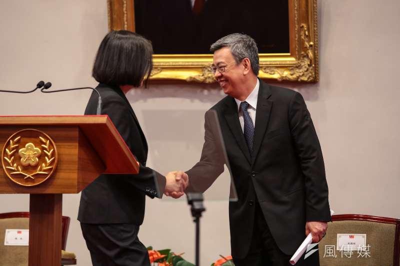 20180621-副總統陳建仁21日針對年金改革方案通過出席總統府說明記者會。(顏麟宇攝)
