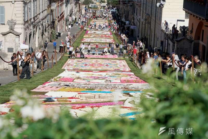 2018簡扎諾的花毯節。(曾廣儀攝)