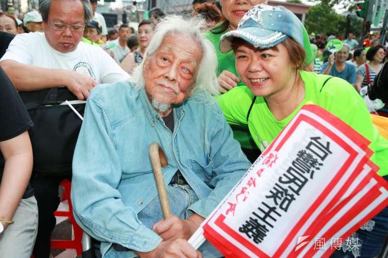 總統府資政、台獨革命家史明昨夜辭世。(簡必丞攝)
